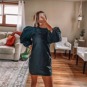 Zara black dress with ballon / puffed sleeves